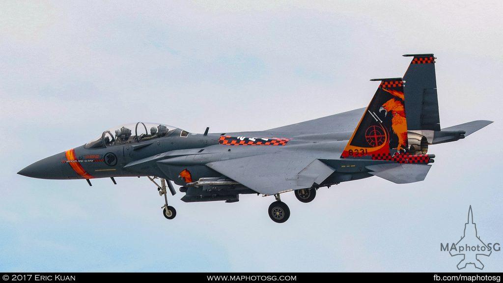 RSAF F-15SG 142sqn Top Ace 2017