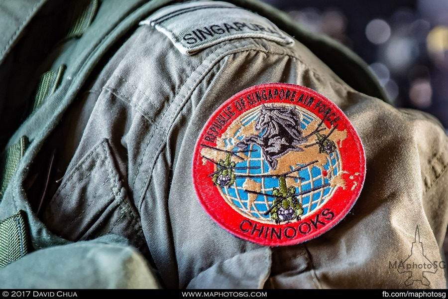 RSAF 127 Sqn Chinook patch on Air Crew Specialist