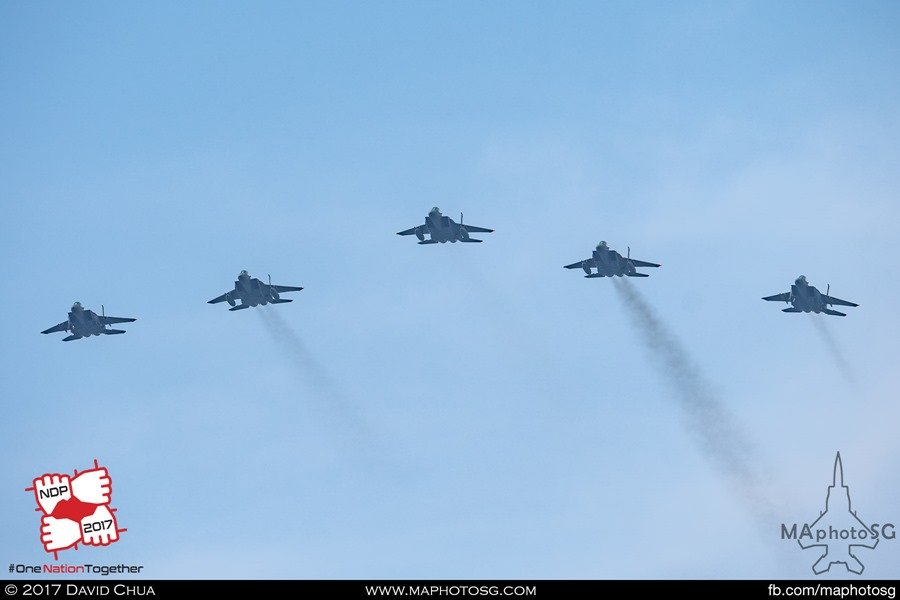 Formation of 5 F-15SG Strike Eagles