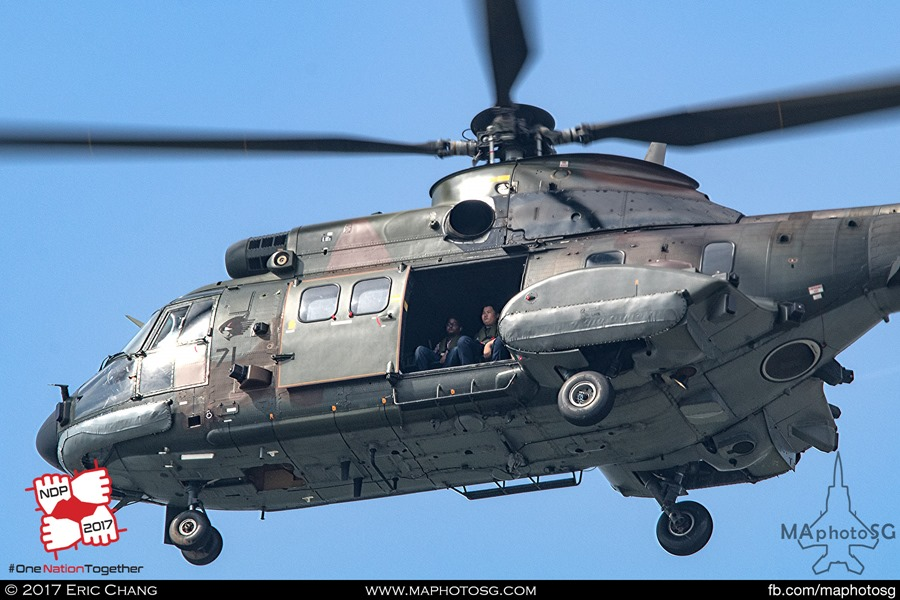 Chase AS332M Super Puma with the 7 Straits Times Pocket Money Fund Children