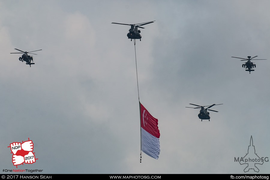 Flag Fly Pass during NDP 2017 rehearsal on 6 June 2017