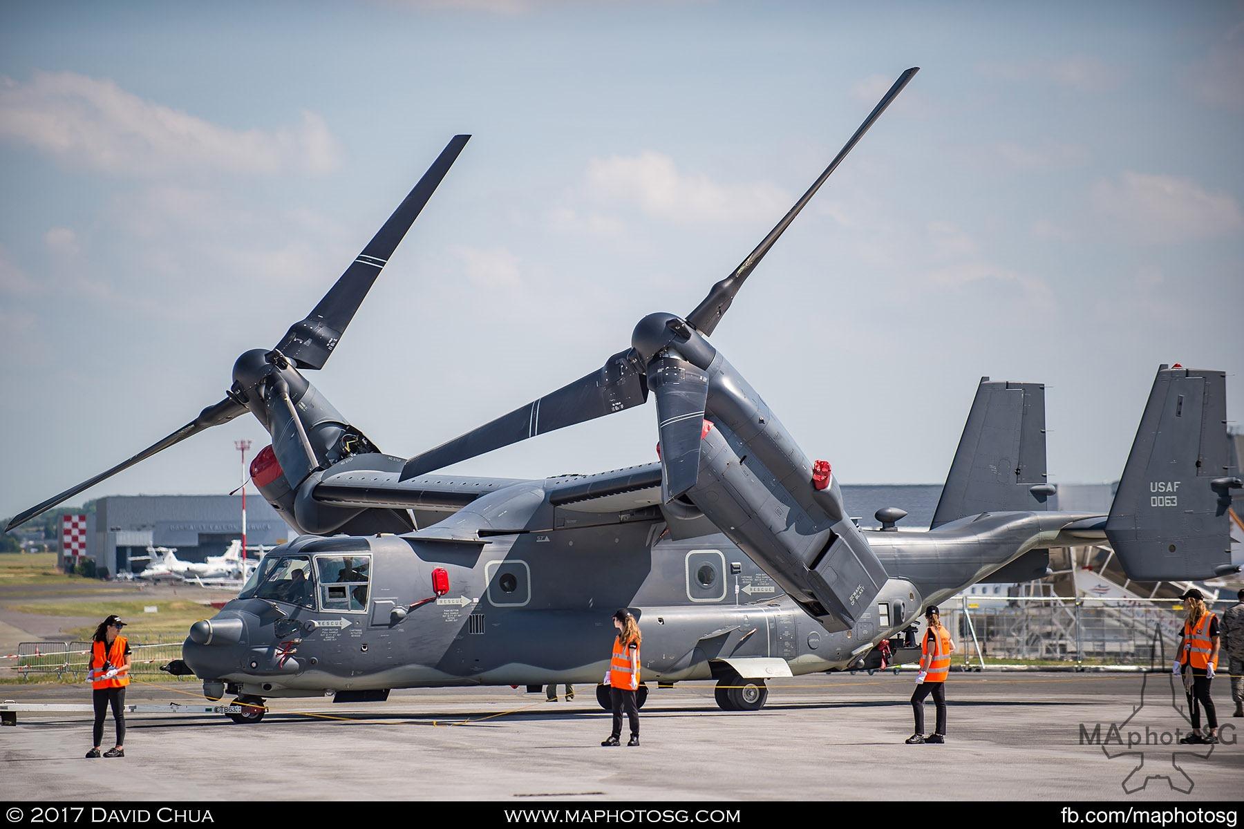 15. USAF Bell CV-22B Osprey at Static Display Area.