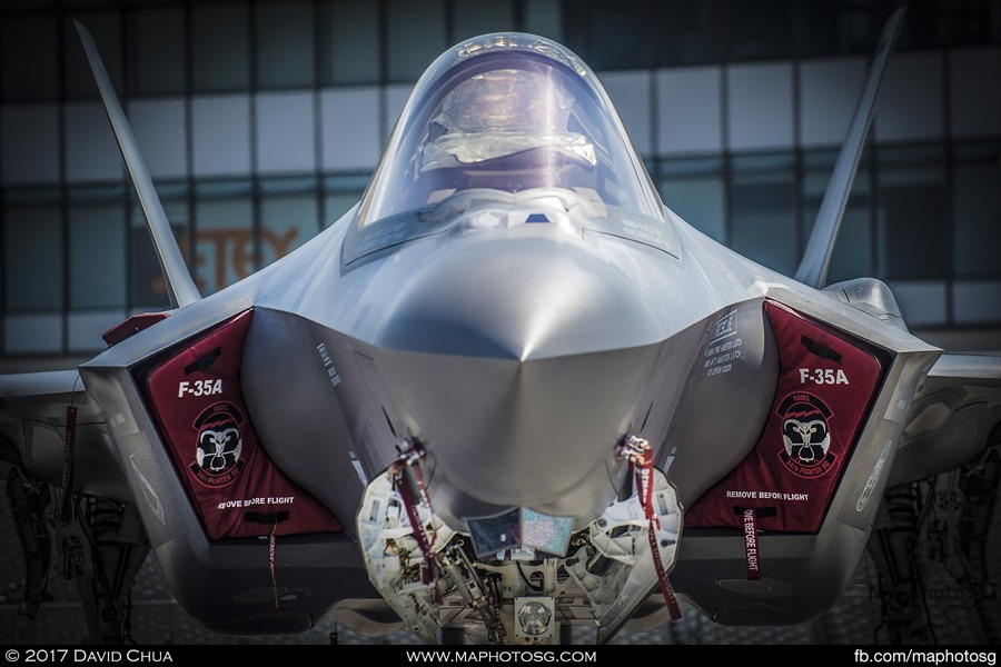 Head on with the F-35A Lightning II