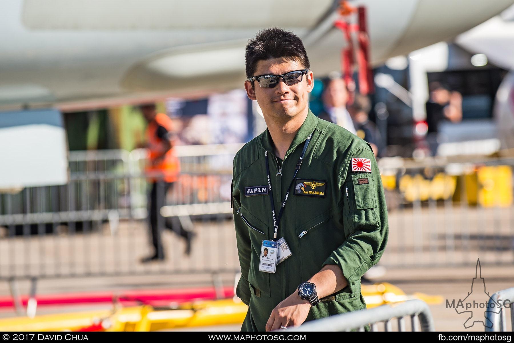 8. A crew member of the Japan Maritime Self-Defence Force Kawasaki P-1 Maritime Patrol Aircraft.