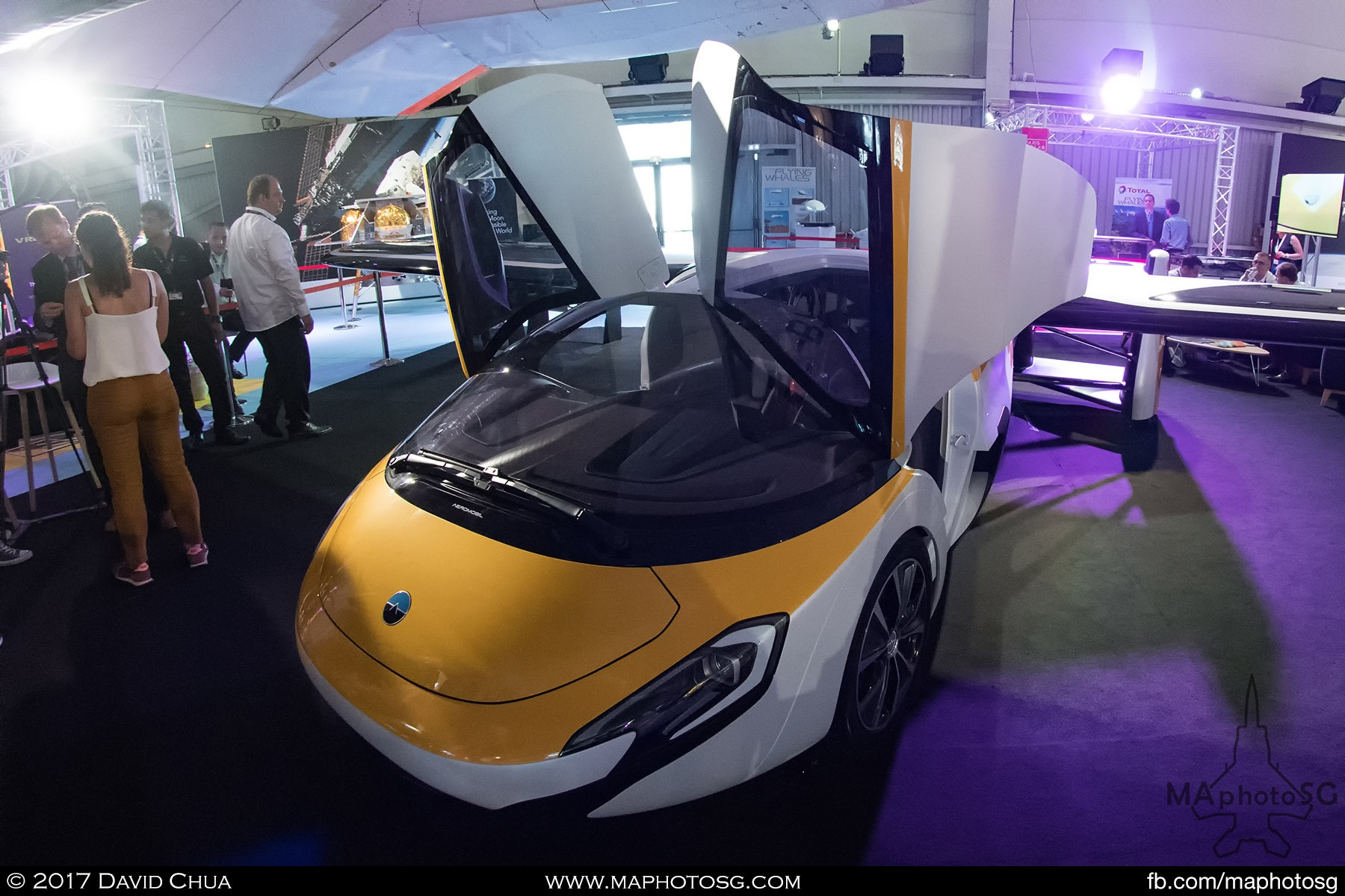 23. Slovakian startup AeroMobil unveiled it's new flying car as part of the Paris Air Lab, a new exhibition space dedicated to research and innovation. The car is able to go 160 km/h on the road and about 260 km/h in the air. At a cost of 1.2M to 1.5M Euros which is comparable to a small aircraft, one will get an aircraft and a sports car.