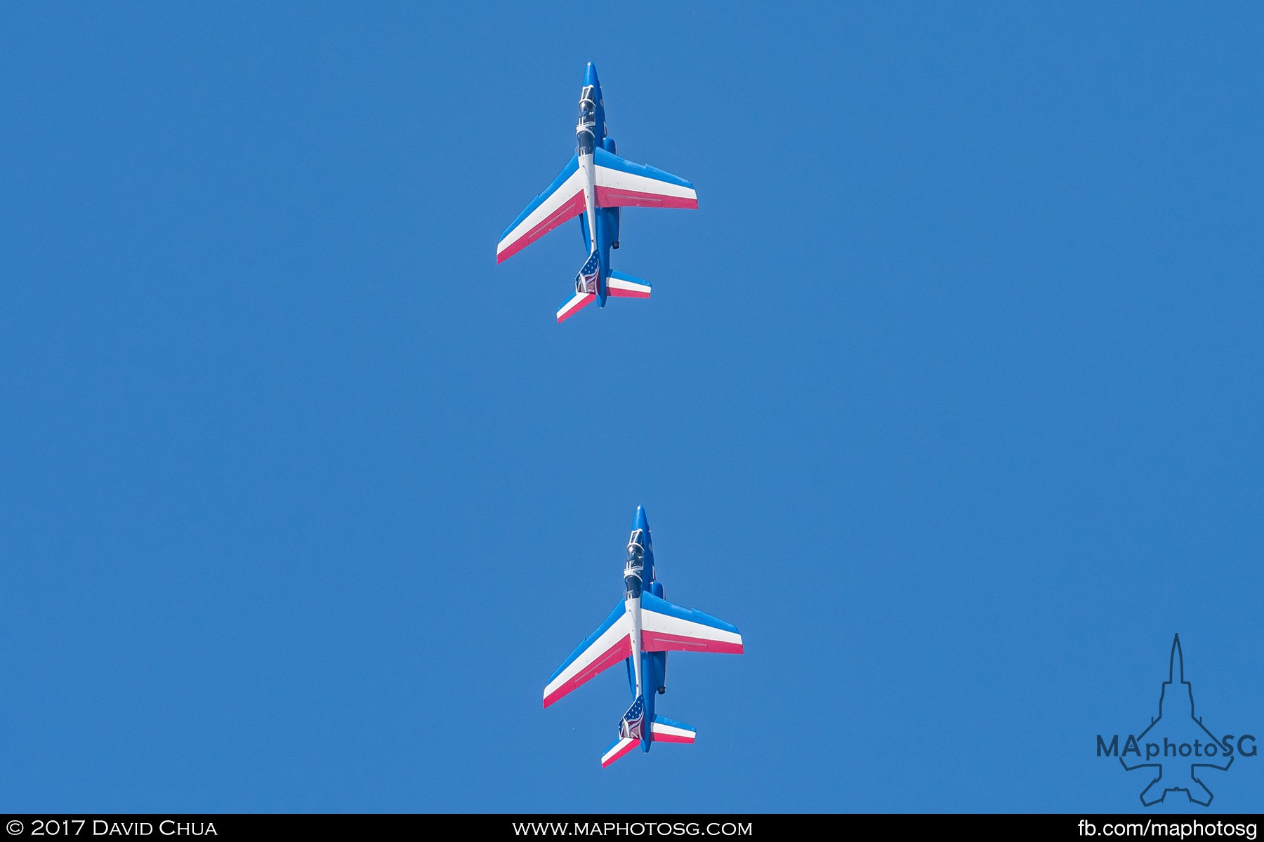 5. The Patrouille de France Aerobatic Display Team of the French Air Force wowed visitors on the opening day and the last three public days of the show with their precision flying