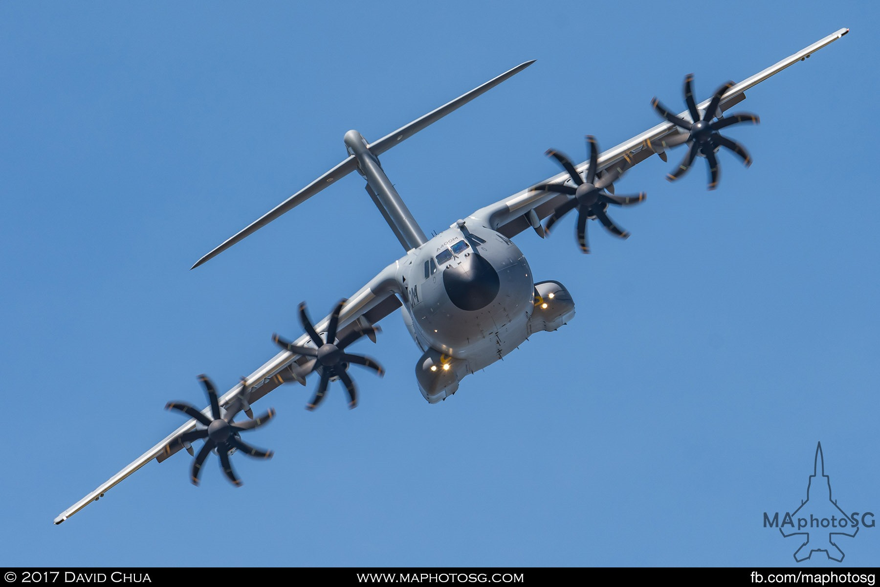 7. Airbus A400M Military Transport shows of it's capabilities in the aerial display segment.