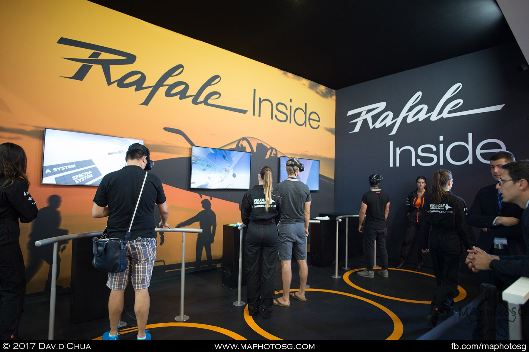 10. Virtual Reality was a big this year. Many exhibitors brought along VR solutions. Here, visitors to the Dassault Aviation booth were able to fly a Rafale fighter through their Immersive Dassault Aviation application.