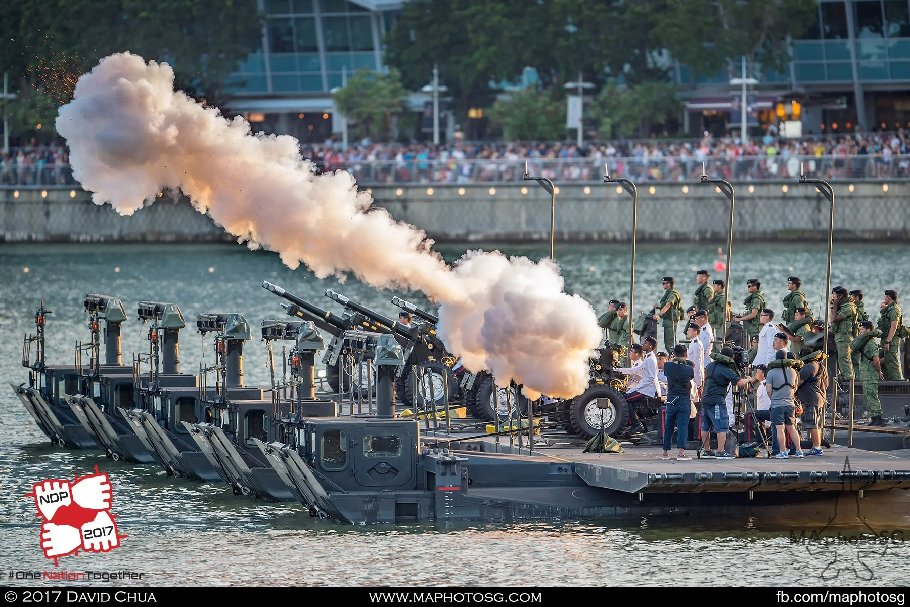 26. A 25-pounder howitzer fires during the 21-Gun Presidential Gun Salute.