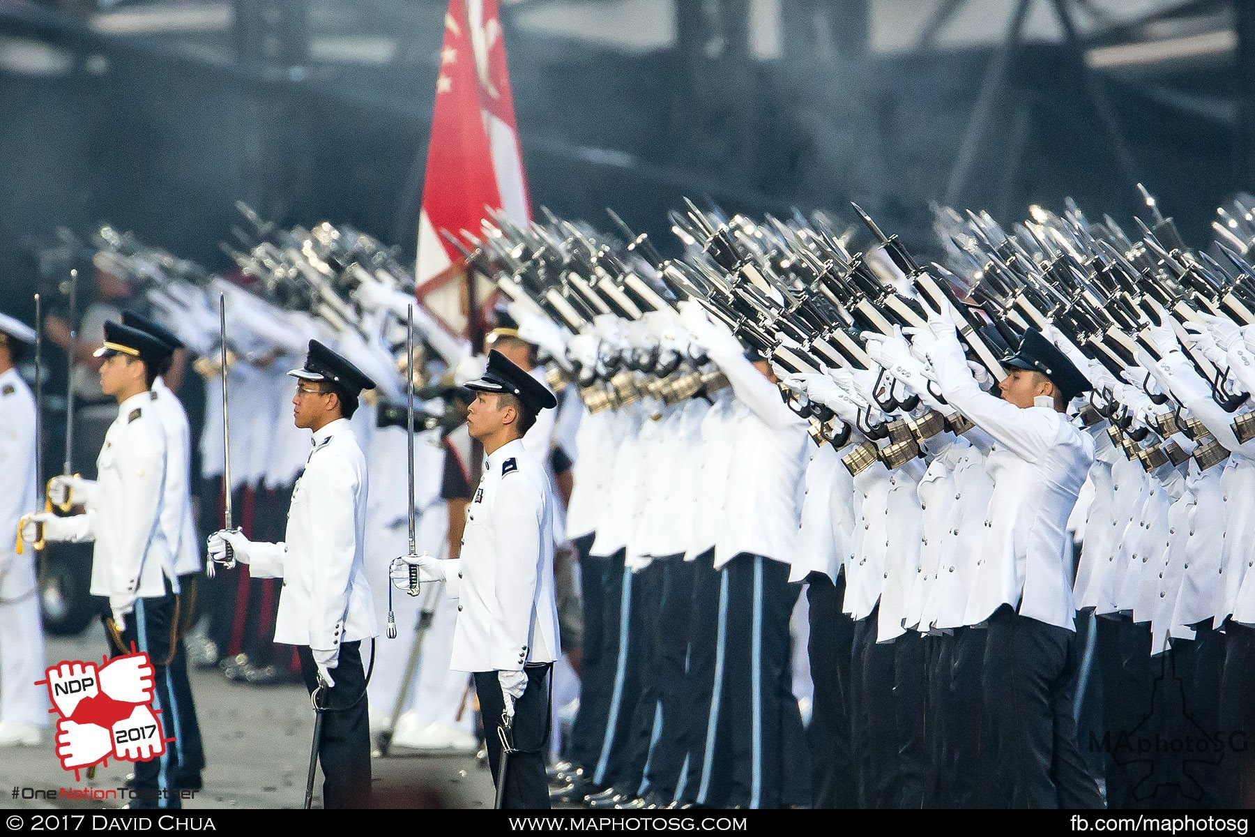 28. Each member of the Guard of Honor contingent fires three rounds each for the the Feu-de-Joie.
