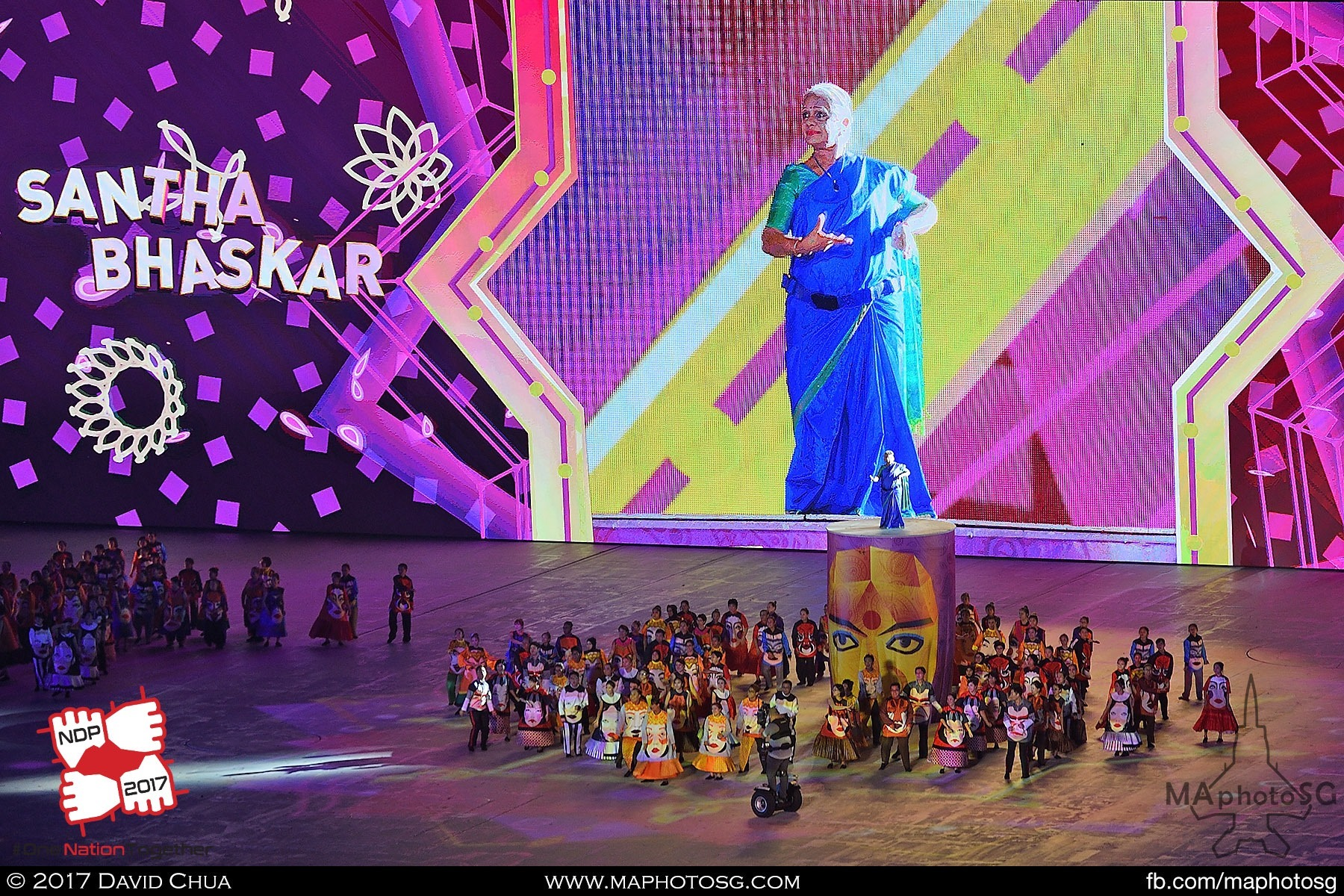 35. Santha Bhaskar entertains on an elevated pedestal in Act 4 of the show – Celebrating Together.