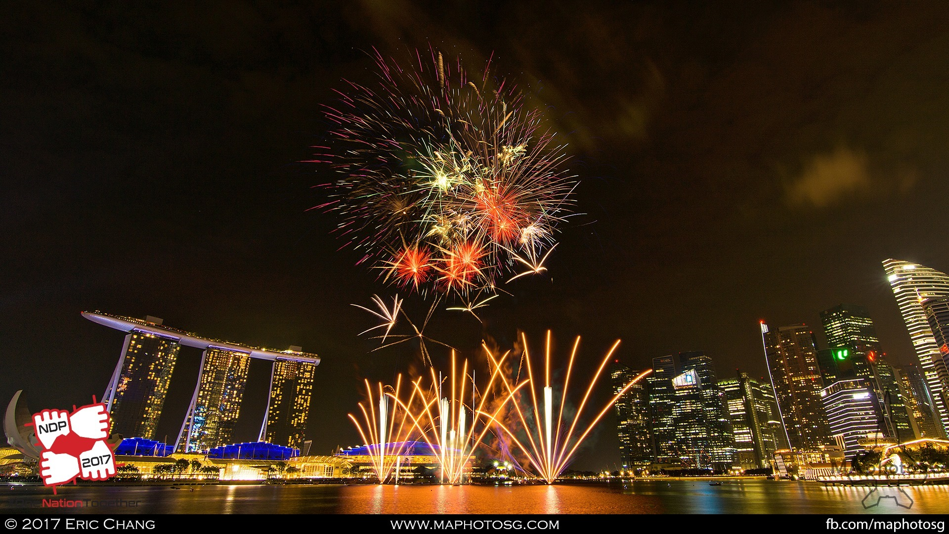 39. Fireworks from the Esplanade Waterfront.