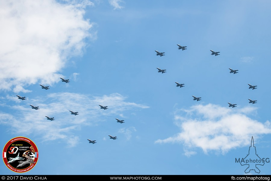 """50"" Formation with ""5"" formed by TNI-AU and ""0"" by RSAF"