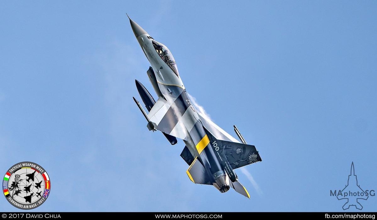 "4. Belgium Air Force F-16A MLU (FA-132) of 1st Squadron ""Stingers"" in flight."