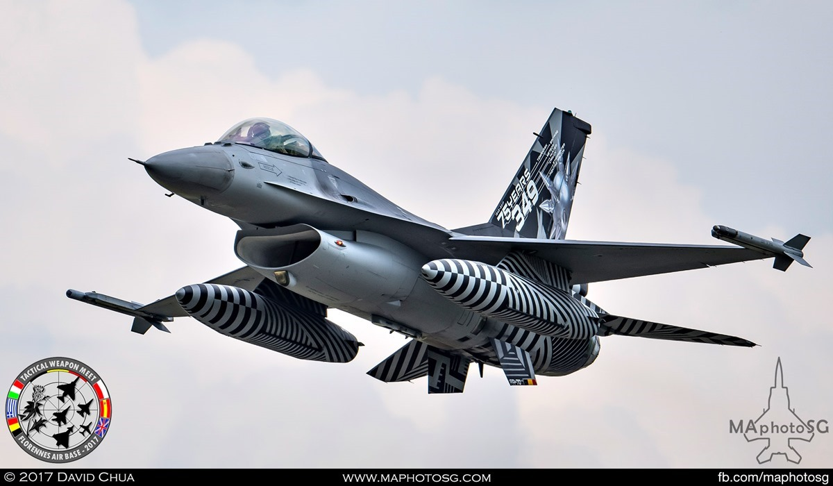 16. Special Appearance 2 - Belgian Air Force F-16A MLU (FA-70) of 349 Squadron with 75 Years tailflash.
