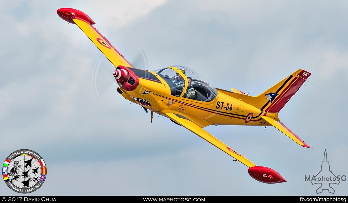24. Special Appearance 6 – One of the pair Belgian Air Force SF.260 (ST-04)