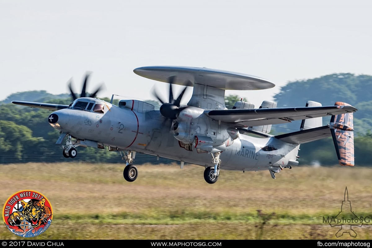 French Navy E-2C Hawkeye in Tiger Livery (2)