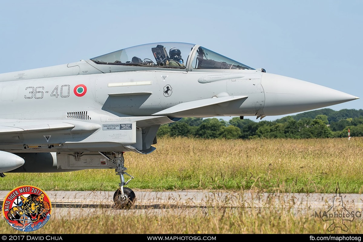 Italian Air Force XII Gruppo  EF-2000 Typhoon (36-40)