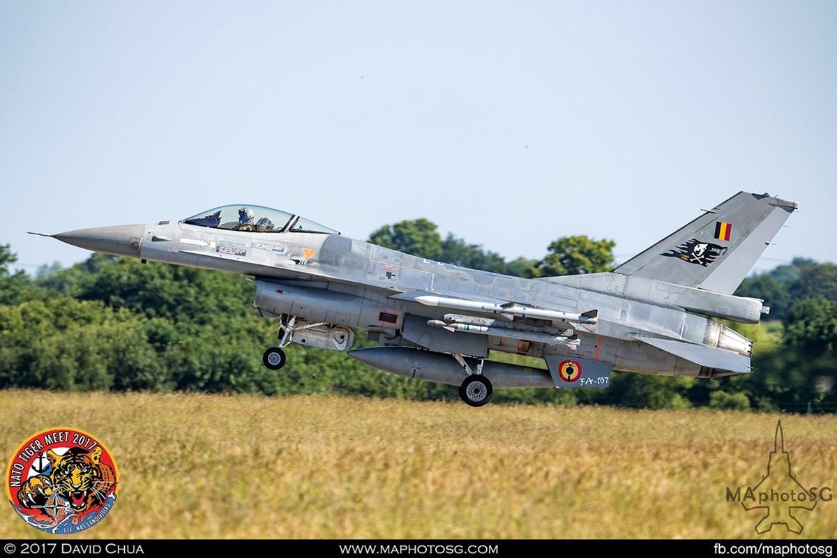 Belgium Air Force 31 Squadron F-16A MLU Fighting Falcon (FA-107)