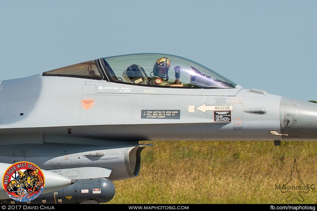 Royal Netherlands Air Force 313 Squadron F-16A MLU Fighting Falcon (J-001)