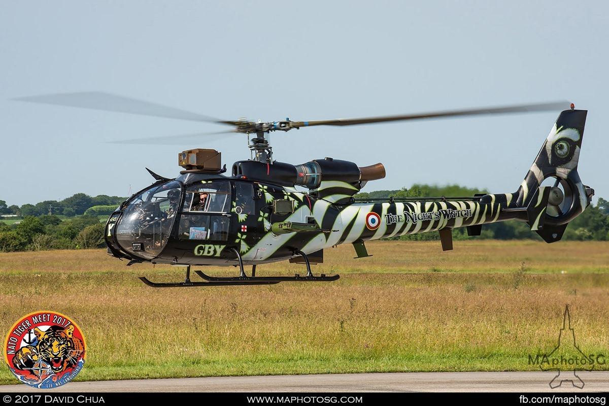 "French Army Air Force Escadrille d'Hélicoptères de Reconnaissance et d'Attaque n°3  SA-342 M Gazelle ""The Night's Watch"""