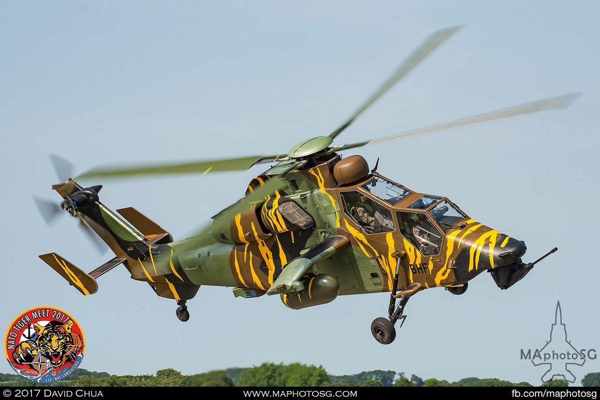 French Army Air Force 5e régiment d'hélicoptères de combat EC665 Tigre HAP