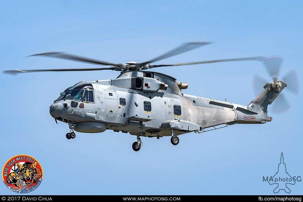 Royal Navy 814 Naval Air Squadron Merlin HM. MK2