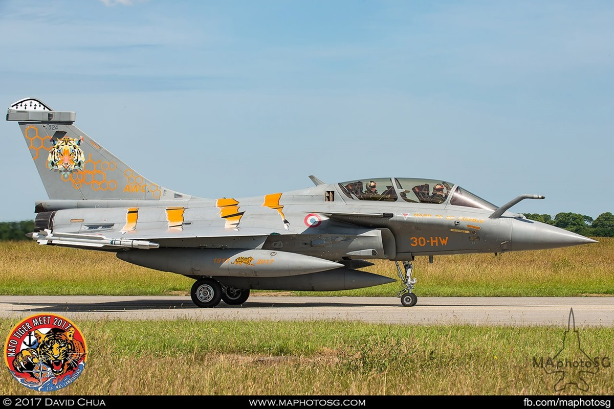 French Air Force Rafale B in Tiger Livery (30-HW)