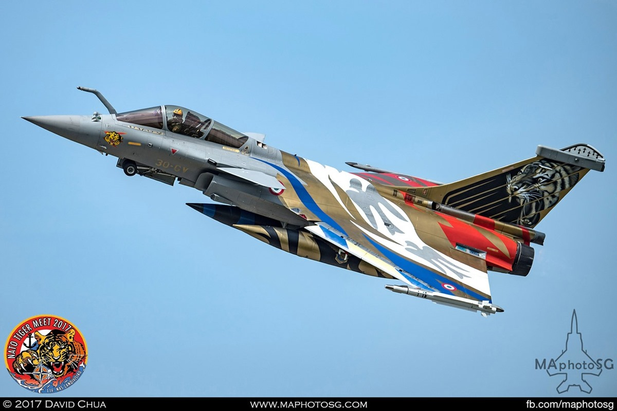 French Air Force Rafale C in Tiger Livery (30-GV)