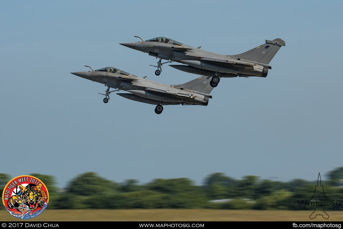 French Navy Flottille 11F Rafale Ms (46) and (10)