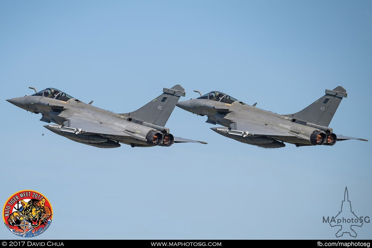 French Navy Flottille 11F Rafale Ms (45) and (43)