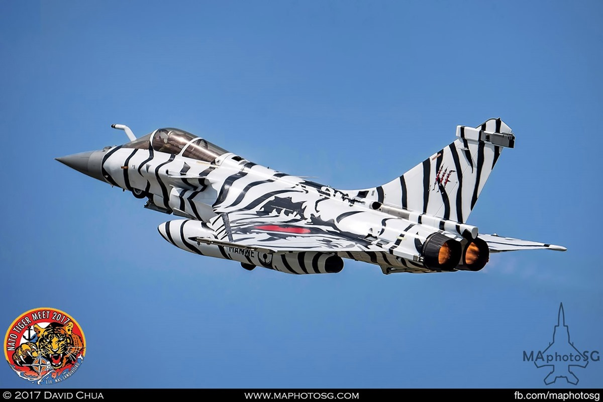 French Navy Flottille 11F Rafale M (36) in White Tiger Livery