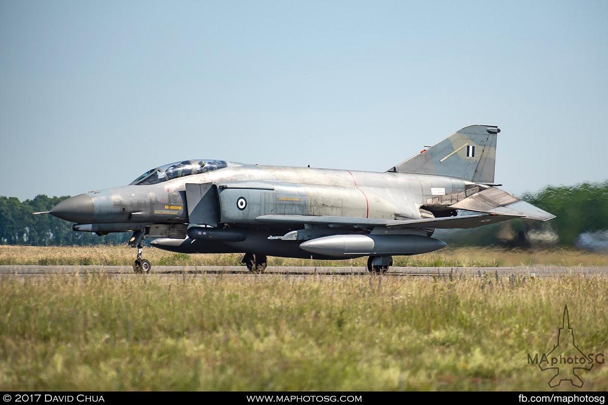 F-4E Phantom II (01534) on rolling for takeoff on runway