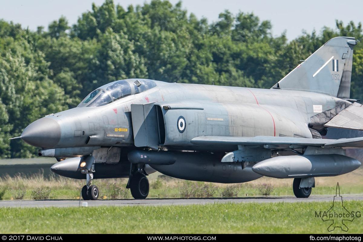 F-4E Phantom II (01512) awaits clearance for take off