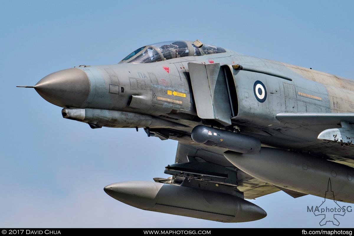 Hellenic Air Force 338 MIRA F-4E Phantom II (01512) close up front view