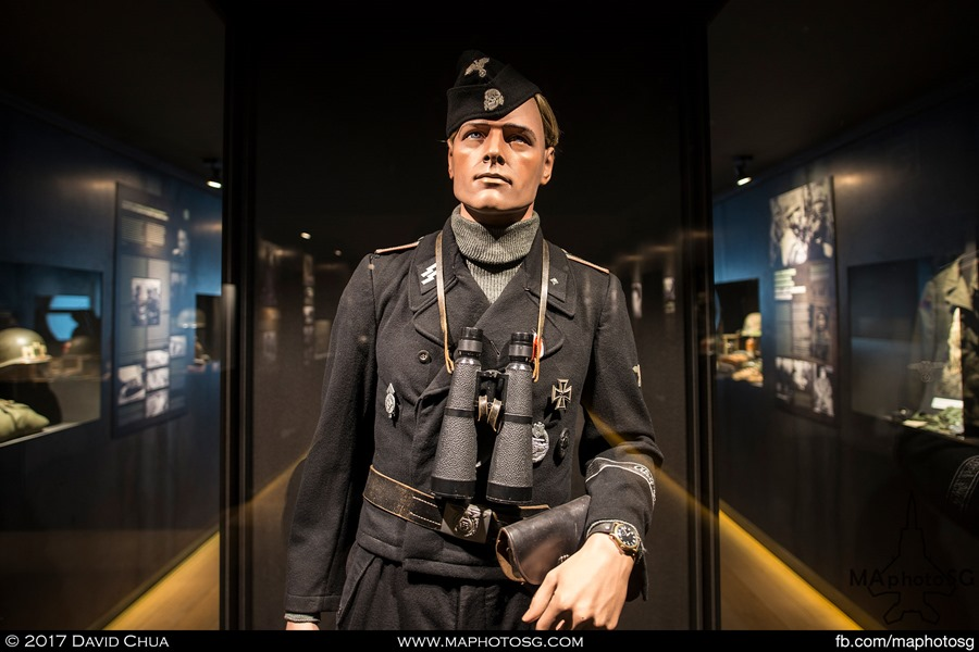 Life size figure of a Panzer Commander
