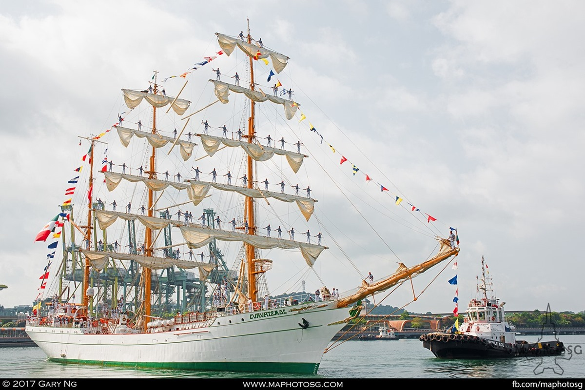 The Mexican Navy's Tall Ship ARM Cuauhtémoc made a stopover in Singapore as part of its 9½-month Centenary of the Constitution voyage