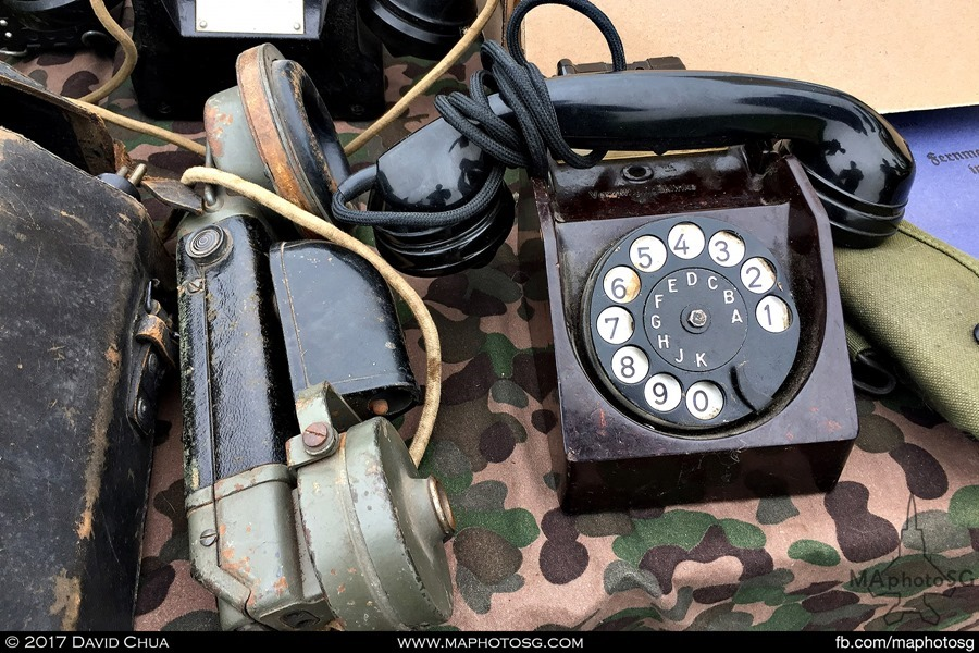 Many old communcation devices can be found. This is an example of an old telephone