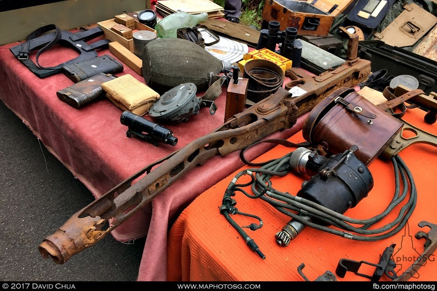 Totally rusted MG42 waiting for someone to pick it up