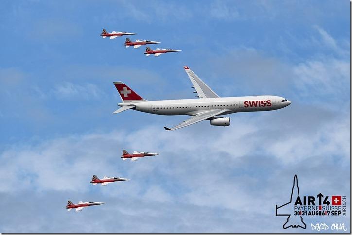 Patrouille Suisse and Swissair