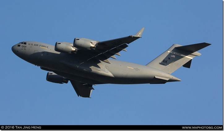 16. C17 taking off
