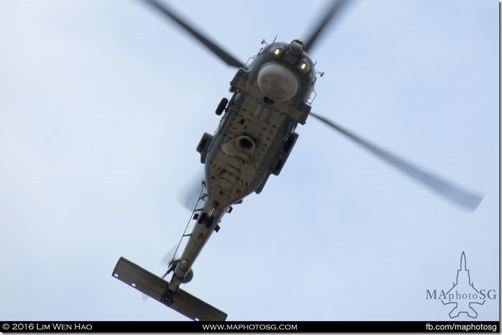Belly shot of the S-70B Seahawk Helicopter