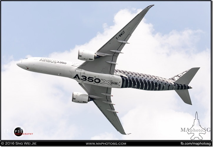 Belly shot of the beautiful A350