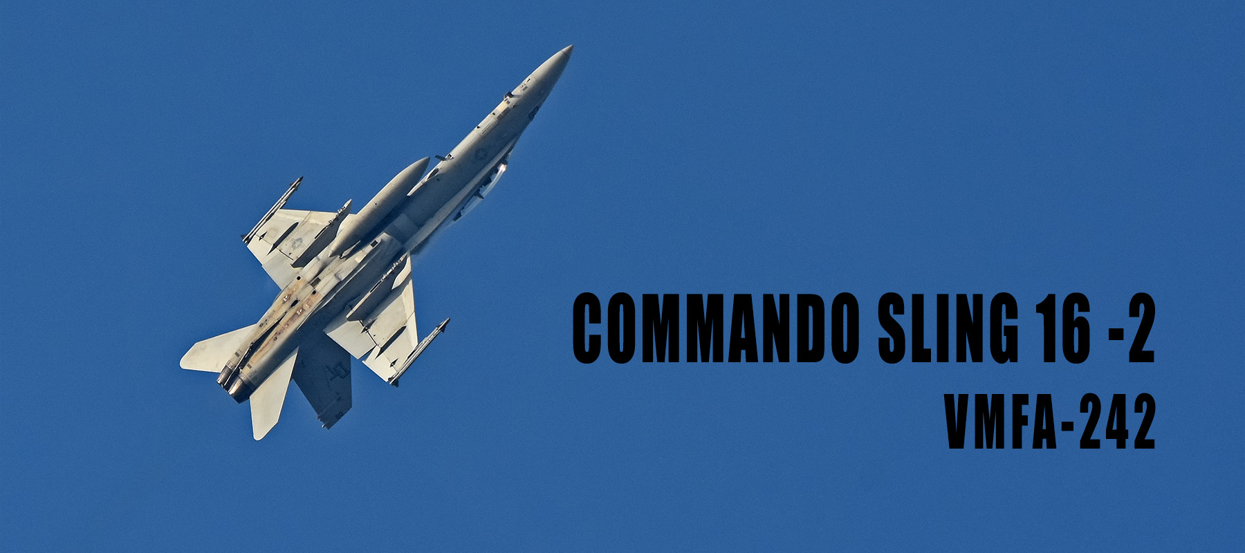 FA-18D particpating in Commando Sling 16-2