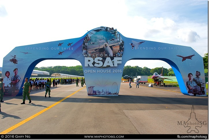 Welcome Arch to the RSAF Open House 2016