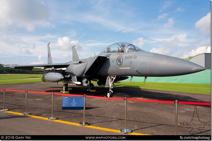 F-15SG Static Display for Visitors to take photos