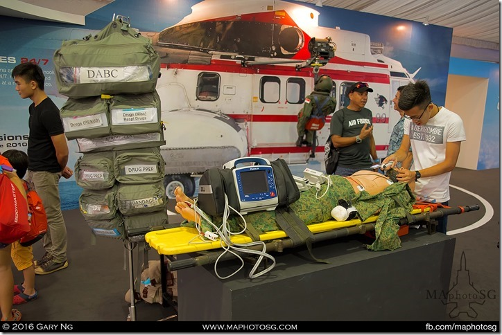 RSAF Humanitarian Assistance and Disaster Relief Missions exhibit.