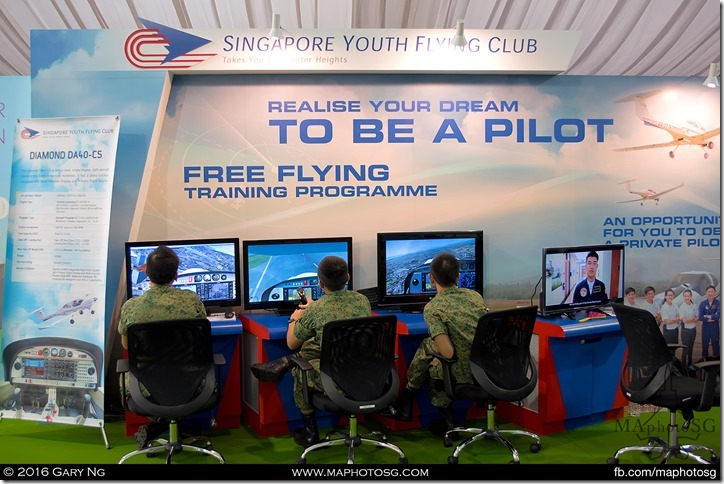 Singapore Youth Flying Club booth