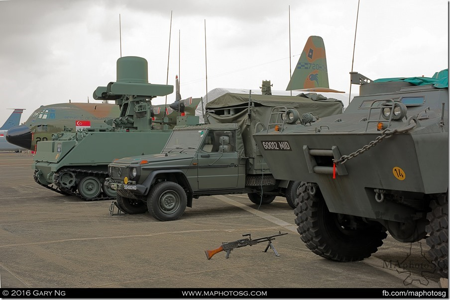 RSAF platforms and GBAD systems at the static display