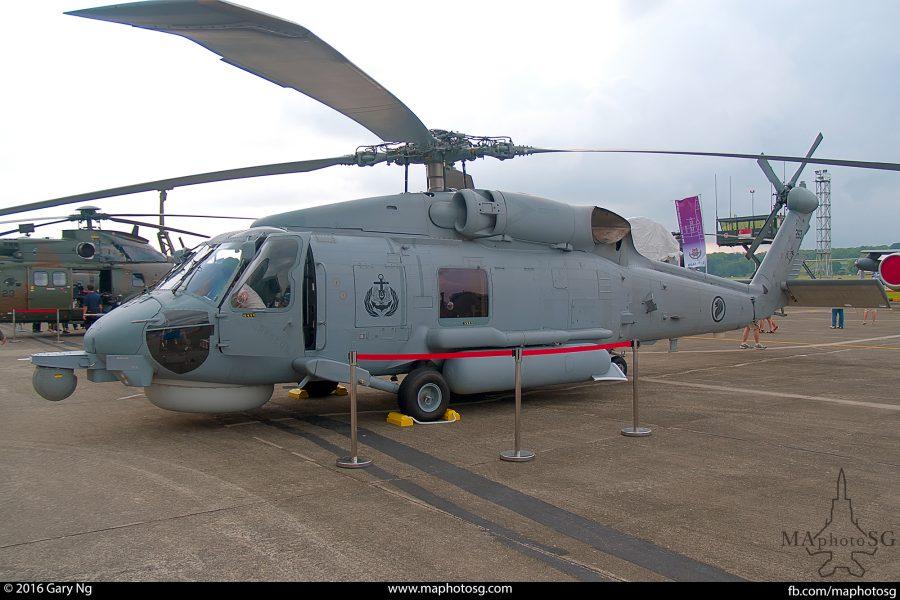 A Sikorsky S-70B Seahawk on static display, RSAF Open House, Paya Lebar Airbase, May 2011